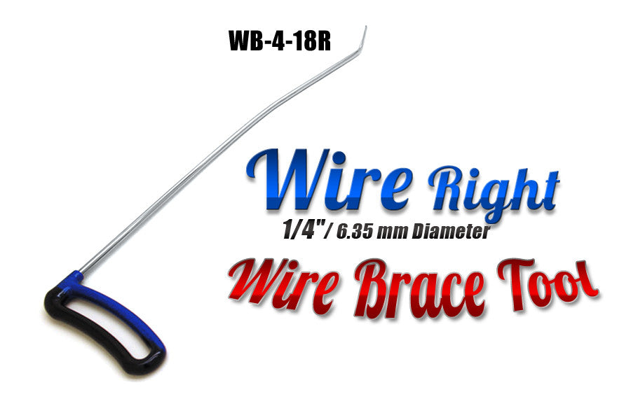 "DISCONTINUED!!! GET IT WHILE YOU CAN!!! Brace Wire Tool 1/4"" x 18"" Right"