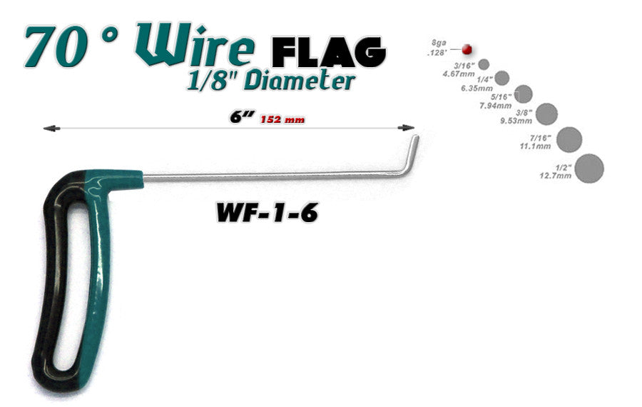 "Flag Wire 1/8"" x 6"" Length."