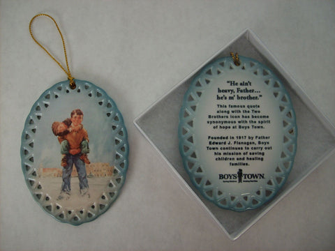 Two Brothers Oval Ornament