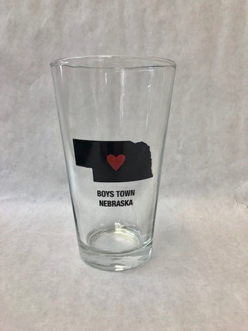Nebraska Heart Pint Glass