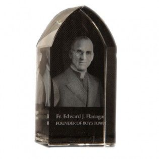 Father Flanagan Etched Glass