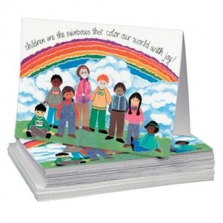 Rainbow Kids Notecards