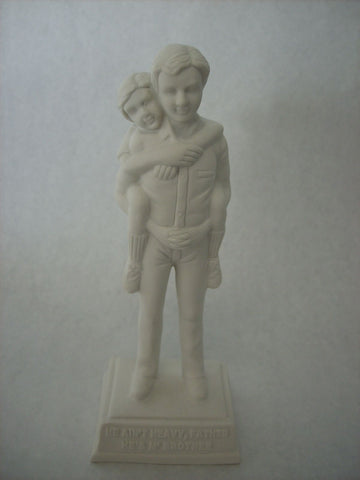 Bisque Unpainted Two Brothers Statue