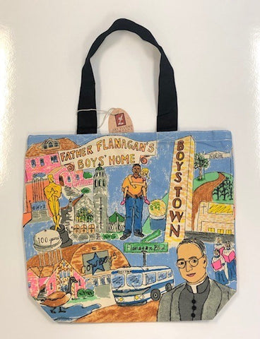 Boys Town Canvas Shopper Tote Bag
