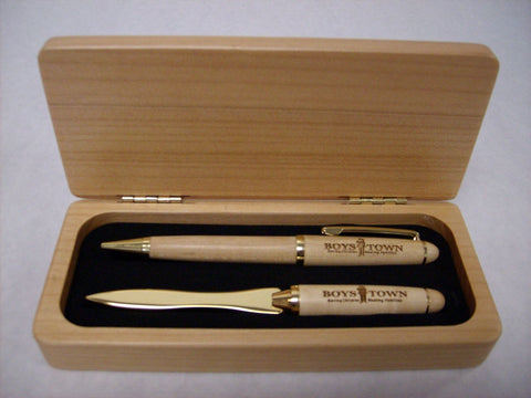 Maple Box w/Pen & Letter Opener