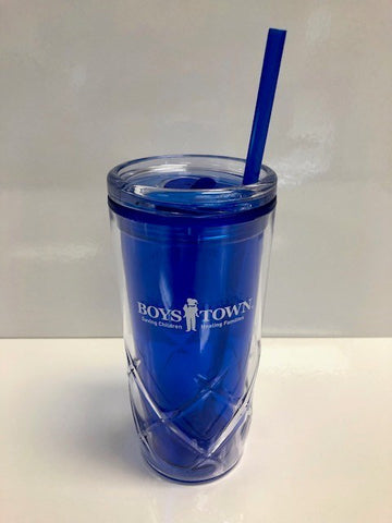 Boys Town Tumbler with Straw