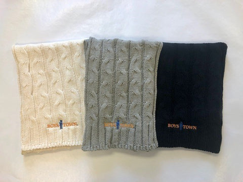 Boys Town Cable Knit Scarf