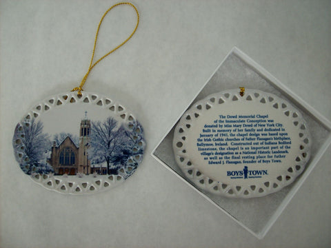 Dowd Chapel Oval Ornament