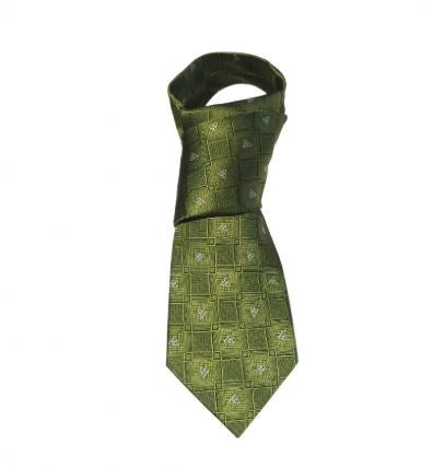 Green Celtic Knot Silk Tie