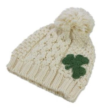 Cream Kids Shamrock Hat - Size 3/6