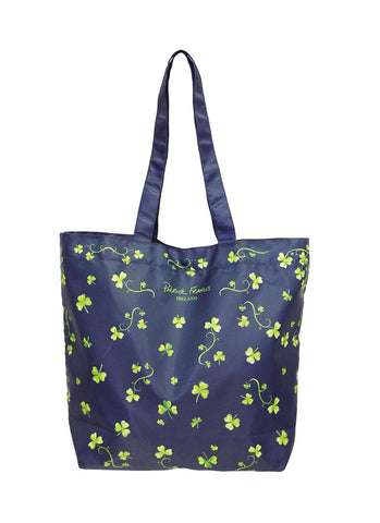Navy Shamrock Shopper Bag
