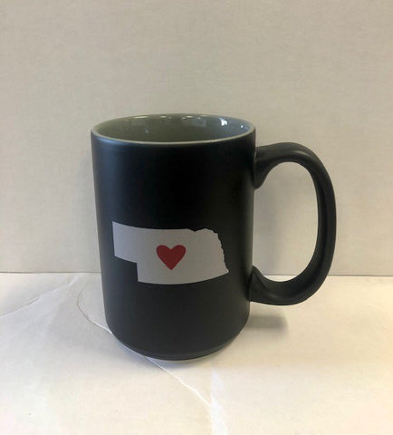 Nebraska Heart Coffee Mug