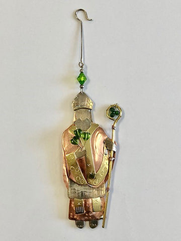St. Patrick Mixed Metal Ornament