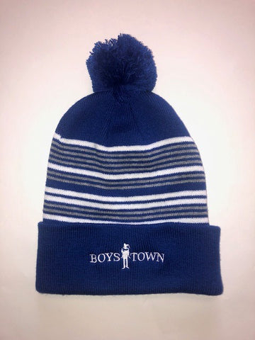 Boys Town Pom-Pom Knit Hat