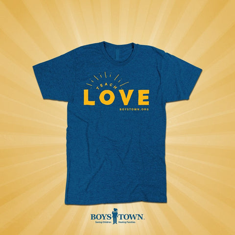 """Teach Love"" Unisex T-Shirt - Youth"