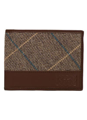 Brown Tweed Celtic Leather Wallet