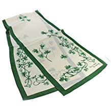 Cream/Green Sham Spring Silk Scarf