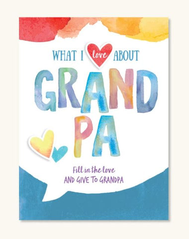 What I Love About Grandpa Journal