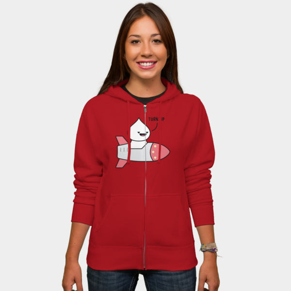 Turn Up (Unisex Zipper Hoodie)