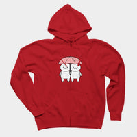 In The Rain (Unisex Zipper Hoodie)