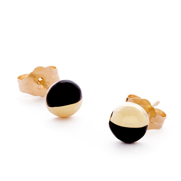 The Onyx Athena Earrings