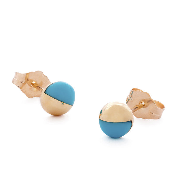 The Turquoise Athena Earrings