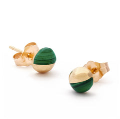 The Malachite Athena Earrings