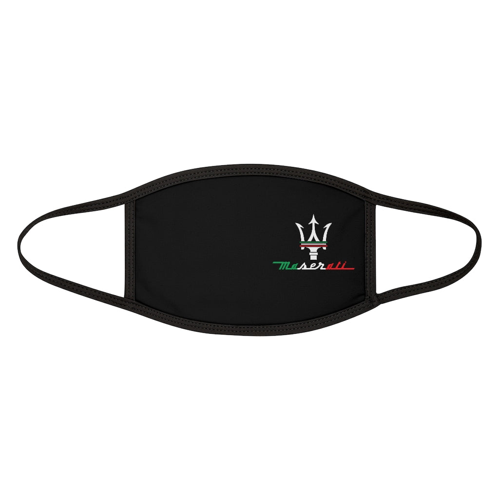 Maserati Italian Trident Mixed-Fabric Face Mask