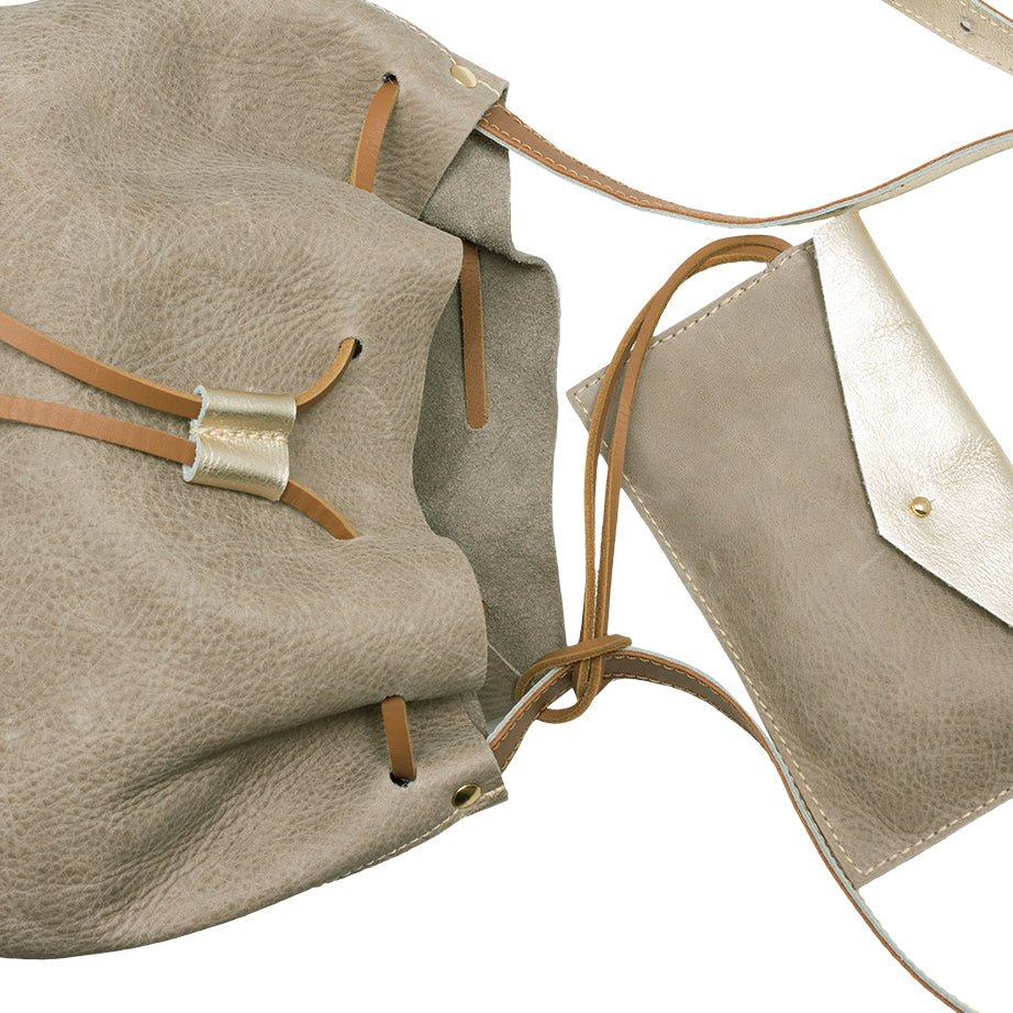 """Maria"" Leather Bucket Bag"