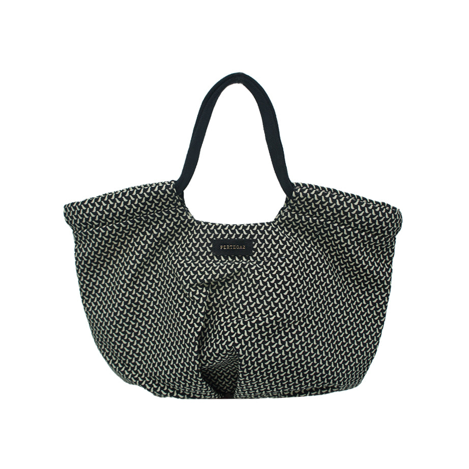 Pleated Medium Printed Shopper