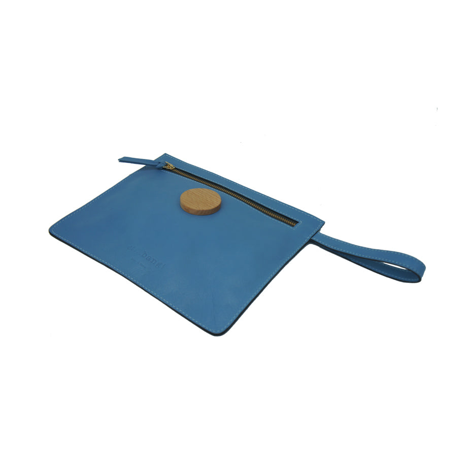 """Dianne"" Leather Envelope Clutch Bag"