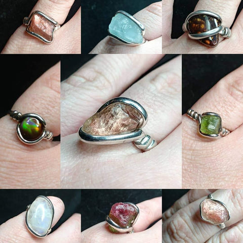 Natural Stone Rings Collection - Rock Your World