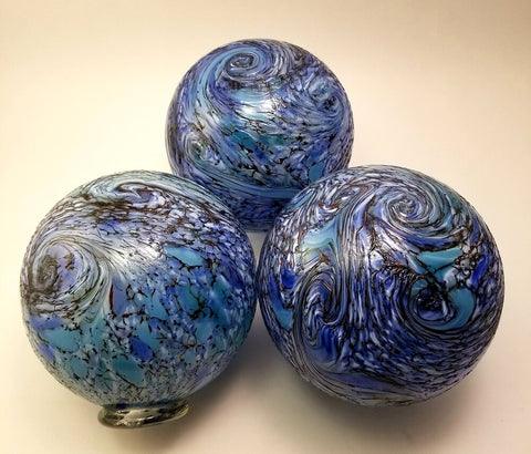 Starry Night Local Handblown Art Glass Floats