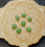 Light Apple Green Nephrite Jade Oval Cabochon 10x8mm AA Grade