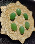 Light Apple Green Nephrite Jade Oval Cabochon 18x13mm AAA Grade