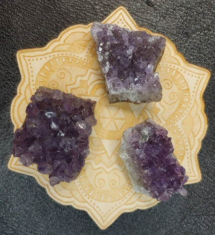 Pocket Sized Amethyst Quartz Raw Stone Cluster