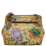 Anuschka Triple Compartment Medium Crossbody With Adjustable Strap Style 525