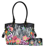 Anuschka Double Handle Large Tote Handbag With Magnetic Closure Style 569 - Rock Your World