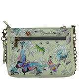 Anuschka Compact Crossbody Handbag With Front Pocket Style 636 - Rock Your World
