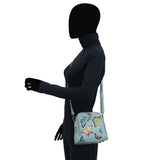 Anuschka RFID Blocking Zip Around Travel Organizer Handbag Style 668