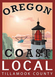 """OREGON COAST LOCAL"" TILLAMOOK COUNTY LOCAL PVC STICKER - Rock Your World"