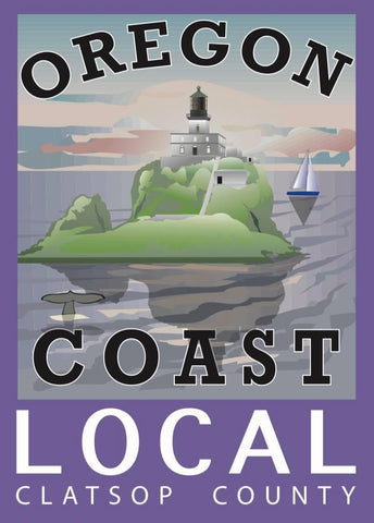 """OREGON COAST LOCAL"" CLATSOP COUNTY LOCAL PVC STICKER - Rock Your World"
