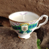 Antique Tea Cup Candles Stuffed Full of Crystals - Limited run of 8