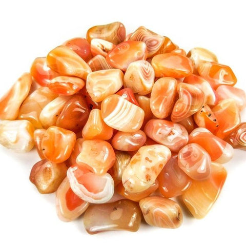 Carnelian Agate Tumbled Polished Stone