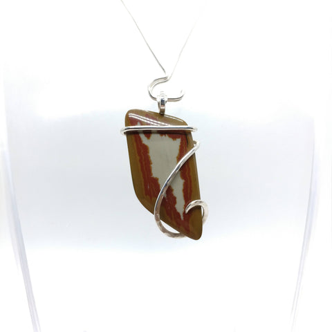 Oregon Owyhee Picture Jasper Pendant in Sterling Silver