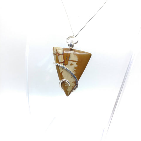 Oregon Red Owyhee Picture Jasper Pendant in Sterling Silver