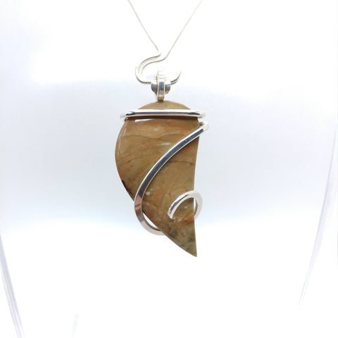 Oregon Morrisonite Picture Jasper Pendant in Sterling Silver