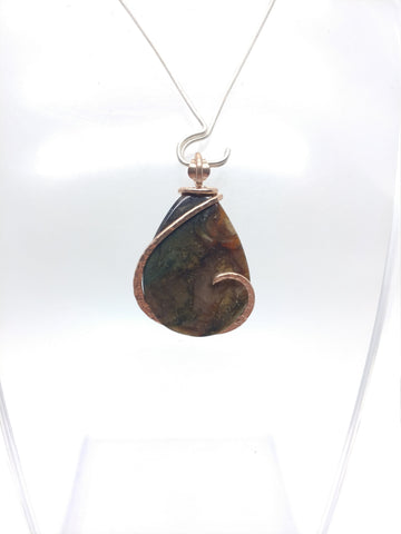 Mountain in the Moonlight Oregon Morrisonite Jasper Pendant in 14kt Rose Gold Fill