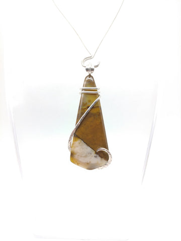 Oregon Polka Dot Agate Pendant in Sterling Silver