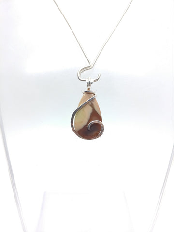 Psychedelic Raindrop Royal Imperial Jasper Pendant in Sterling Silver
